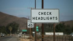 Check Headlights - stock footage