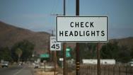 Check Headlights Stock Footage