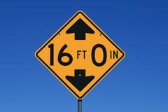 16 feet height road sign Stock Photos