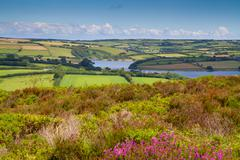 Wimbleball Lake Exmoor National Park Somerset - stock photo