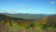 Foliage in New Hampshire White Mountains Stock Footage
