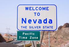 welcome to nevada sign - stock photo