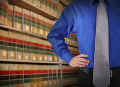 Lawyer Man in Library with Books Stock Photos