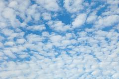 Blue sky with easy clouds Stock Photos