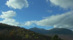 Time Lapse of Clouds Moving Over Mountains Stock Footage