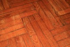 parquet wood floor - stock photo