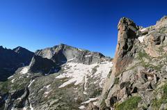 Rocky mountain vista Stock Photos