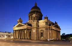 St. Isaac's Cathedral in St Petersburg - stock photo