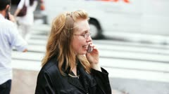Cell Phone Lady Stock Footage