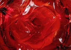 Ice in a red cocktail Stock Photos