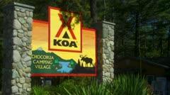 Chocorua Camping Village in New Hampshire Stock Footage