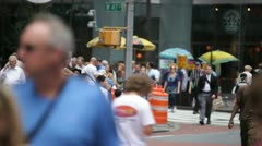 West 47th Street Stock Footage