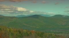 Beautiful Autumn Foliage in Mountains Stock Footage