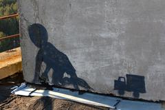Chernobyl graffiti - stock photo