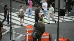 Busy Crosswalk 3 Stock Footage