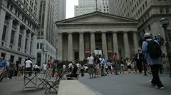 Federal Hall NY Stock Footage