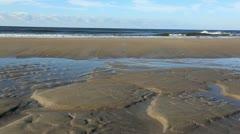 Morning seashore tidal pools Stock Footage