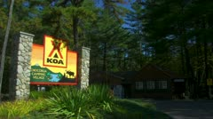 Wide Shot of Chocorua Camping Village in New Hampshire Stock Footage