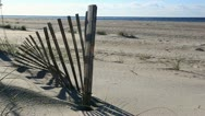 Protected beach Stock Footage