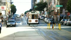San fran trolley 1 Stock Footage