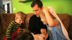 Family newborn Stock Footage