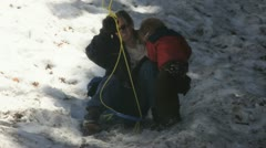 Sledding fund 1 Stock Footage
