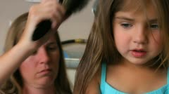 Girl haircut 3 Stock Footage