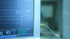Operation. Surgical table. implantation Stock Footage