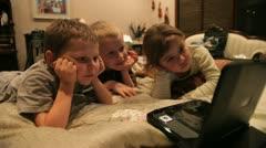 Kids watch DVD 1 Stock Footage