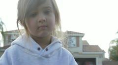 Sweatshirt girl 1 Stock Footage