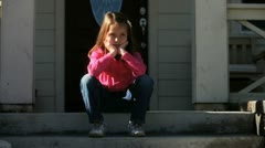 Bored Little Girl 2 - stock footage