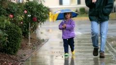 Umbrella Girl 3 Stock Footage