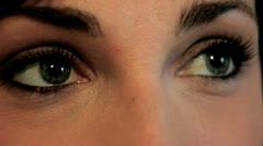 Girls eyes (2) Stock Footage