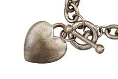 Isolated heart charm macro Stock Photos