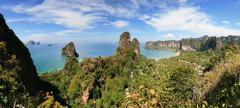 Stock Photo of railay peninsula panorama