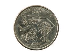 North carolina quarter Stock Photos