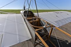Bleriot areoplane replica experimental Stock Photos