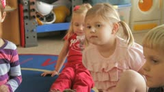 kids sit Preschool - stock footage