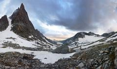 Titcomb basin panorama Stock Photos