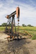 Oil well pump Stock Photos