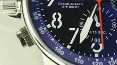 Close Up Macro Chronograph Watch Stock Footage