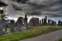 Spooky graveyard Stock Photos