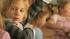 little girls together - stock footage
