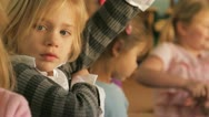 Little girls together Stock Footage