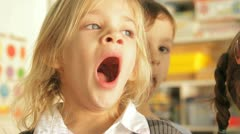 Child yawing Stock Footage