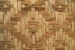 woven bamboo background - stock photo