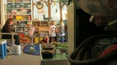 kids playing Preschool - stock footage