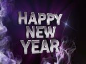 Happy new year text blue 2 640x480 Stock Footage