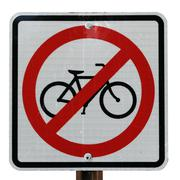 no bicycle sign - stock photo