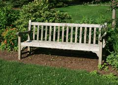 Stock Photo of park bench